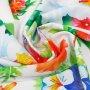 Zasłona gotowa na taśmie D102-01 Kwiaty Maki
