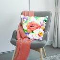 Poszewka dekoracyjna D404-102-01 kwiaty maki