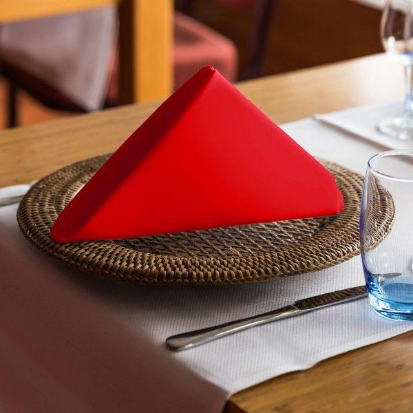 Ekskluzywna serwetka bankietowa czerwona