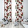 Zasłona gotowa na przelotkach D404-116-01 Czerwone Kwiaty