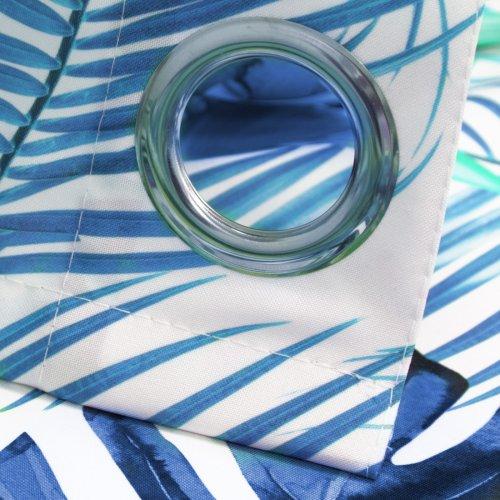 Zasłona gotowa na przelotkach LIŚCIE MONSTERA D100-01