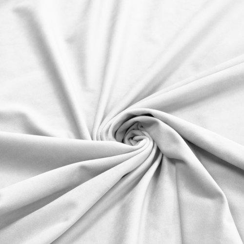 Zasłona Velvet na przelotkach biała 393-01