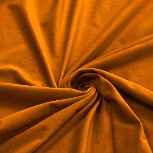 Zasłona Velvet na przelotkach miodowa 393-169