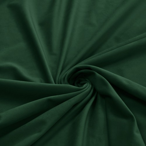 Zasłona Velvet na przelotkach zieleń butelkowa 393-26