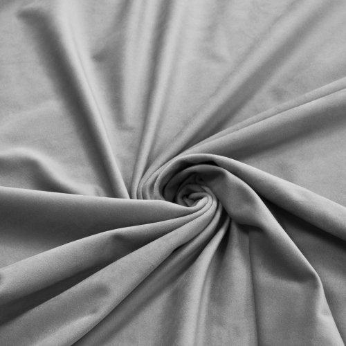 Zasłona Velvet na przelotkach szara jasna 393-31