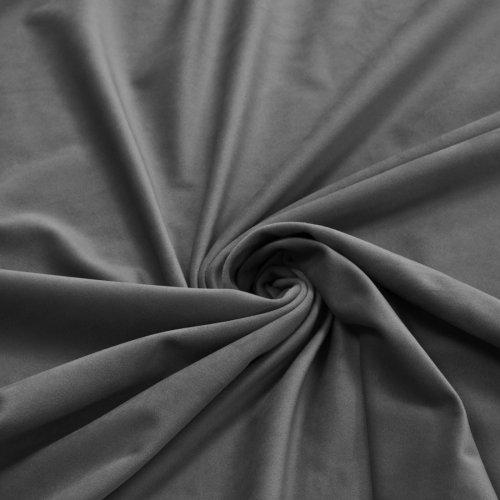 Zasłona Velvet na przelotkach szara ciemna 393-33
