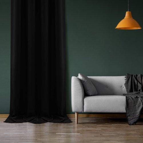 Zasłona Velvet na przelotkach czarna 393-34