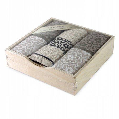 OUTLET Komplet kuchenny 2x ściereczka 50x70 + ręcznik 30x50 249-10