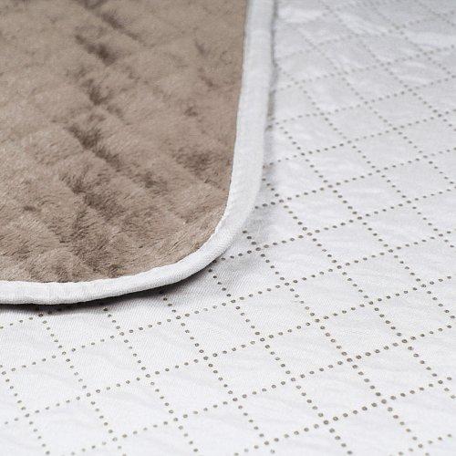 OUTLET Dwustronna narzuta dekoracyjna na łóżko 200x220 172-59-106 kakao-cream
