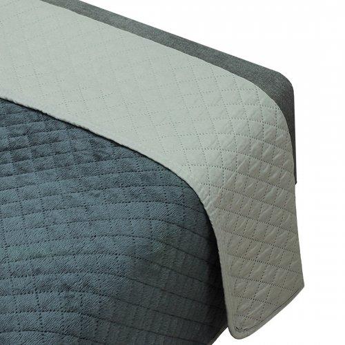 OUTLET Dwustronna narzuta dekoracyjna na łóżko 200x220 172-94-86 grafit-szary