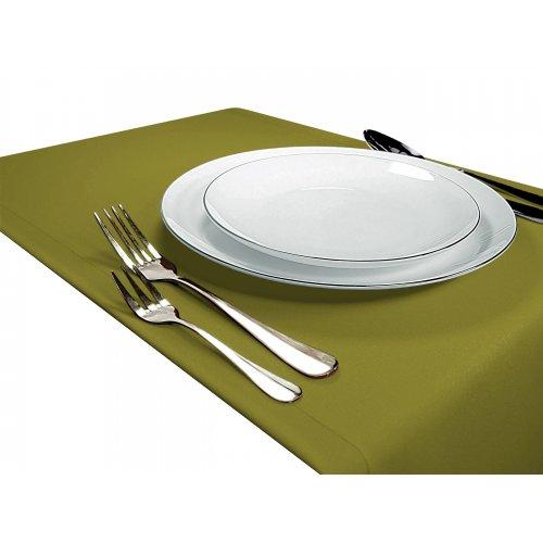 OUTLET Bieżnik na stół GŁADKI STANDARD 404-22 oliwka ciemna