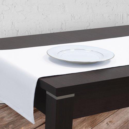 OUTLET Bieżnik na stół plamoodporny GOLD 401-01 biały