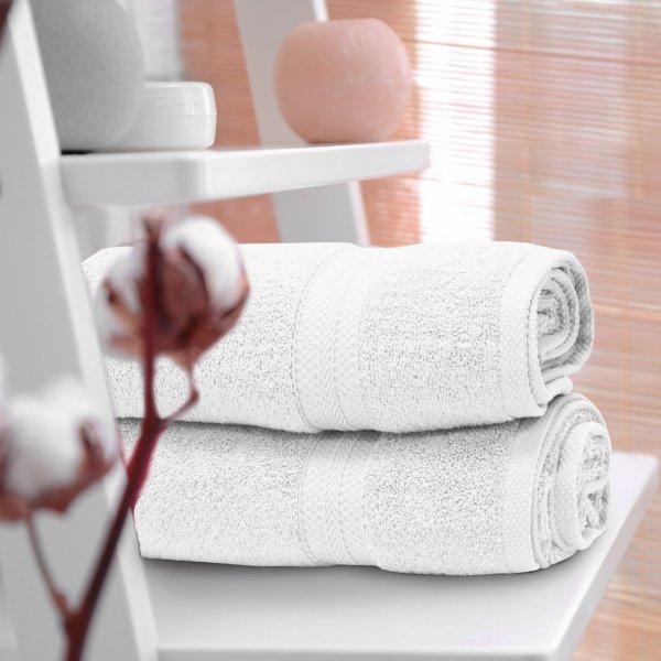 Ręcznik frotte KOMFORT 70x140 566-01 biały