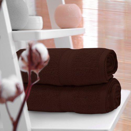 Ręcznik frotte KOMFORT 70x140 566-29 brązowy
