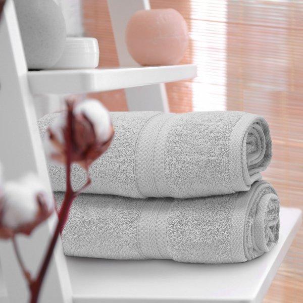 Ręcznik frotte KOMFORT 70x140 566-31 szary jasny