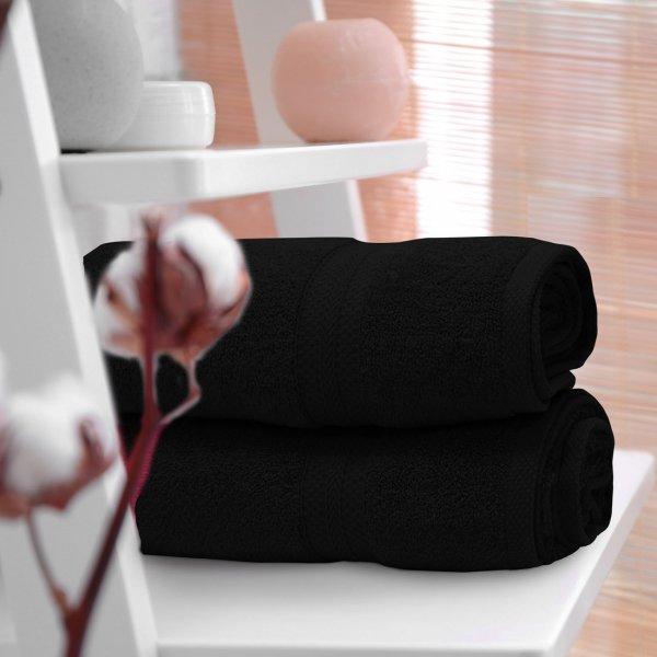 Ręcznik frotte KOMFORT 70x140 566-34 czarny