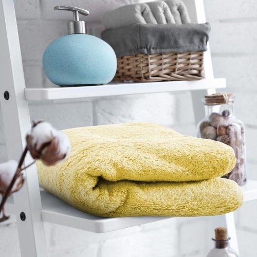 HOTELOWY RĘCZNIK 70x140 żółty pastel 500GSM