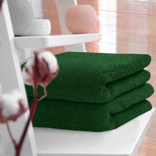 HOTELOWY RĘCZNIK 50x100 zieleń butelkowa 500GSM