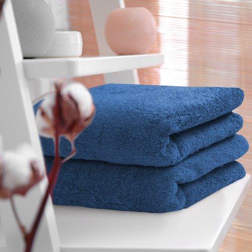 HOTELOWY RĘCZNIK 70x140 niebieski ciemny 500GSM
