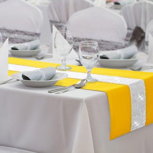 Bieżnik na stół GLAMOUR CYRKONIE 404-05 żółty