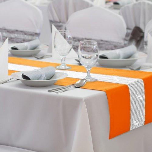 Bieżnik na stół GLAMOUR CYRKONIE 404-06 pomarańczowy