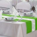 Bieżnik na stół GLAMOUR CYRKONIE 404-25 zieleń trawiasta