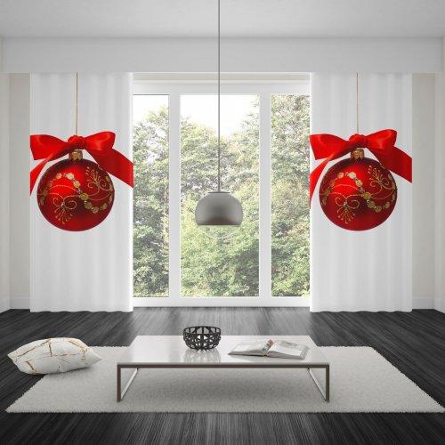 Zasłona świąteczna na taśmie 140x250 dzs404-01a1100
