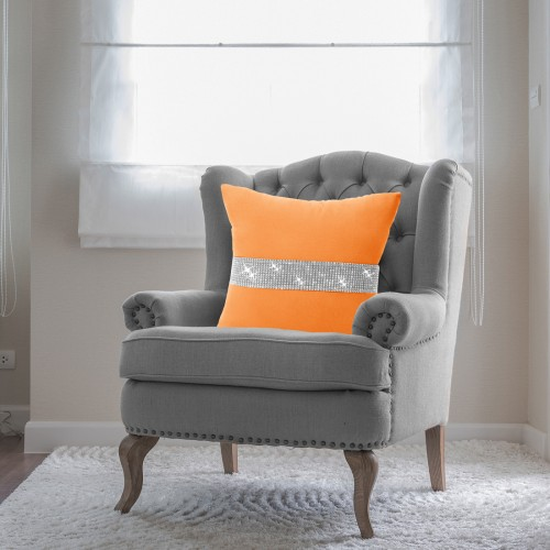 Poszewka HEAVEN CYRKONIE 404-06 pomarańcz