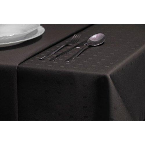 Gładki obrus bawełniany brąz ciemny kostka