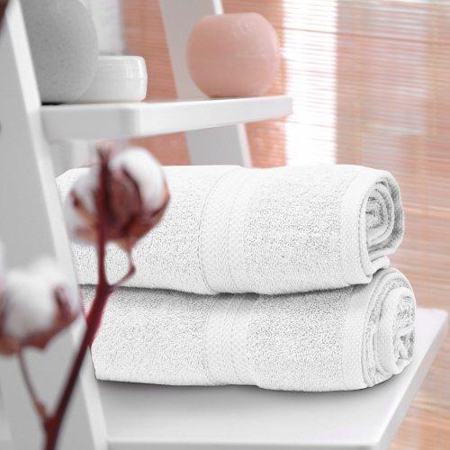 OUTLET Ręcznik frotte KOMFORT 70x140 566-01 biały