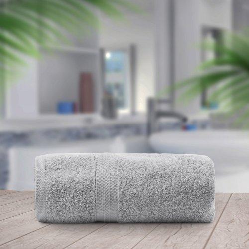 OUTLET Ręcznik frotte KOMFORT 70x140 566-31 szary jasny