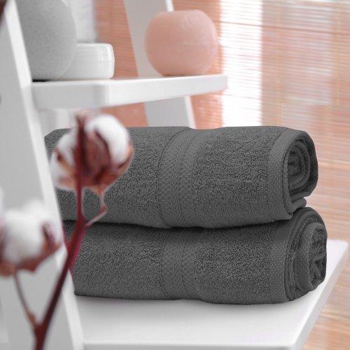 OUTLET Ręcznik frotte KOMFORT 70x140 566-33 szary ciemny