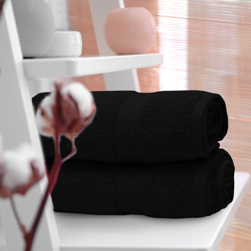 OUTLET Ręcznik frotte KOMFORT 70x140 566-34 czarny