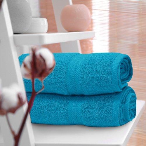 OUTLET Ręcznik frotte KOMFORT 70x140 566-91 turkus jasny