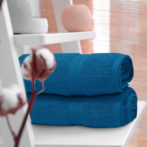 OUTLET Ręcznik frotte KOMFORT 70x140 566-92 turkus ciemny