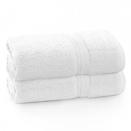 Komplet ręczników frotte KOMFORT 2 szt. 70x140 566-01 biały