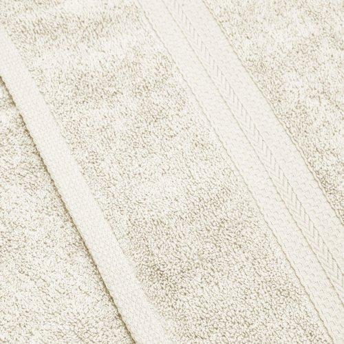Komplet ręczników frotte KOMFORT 2 szt. 70x140 + 2 szt. 50x100 566-02 ecru