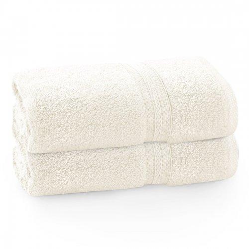 Komplet ręczników frotte KOMFORT 2 szt. 70x140 566-02 ecru