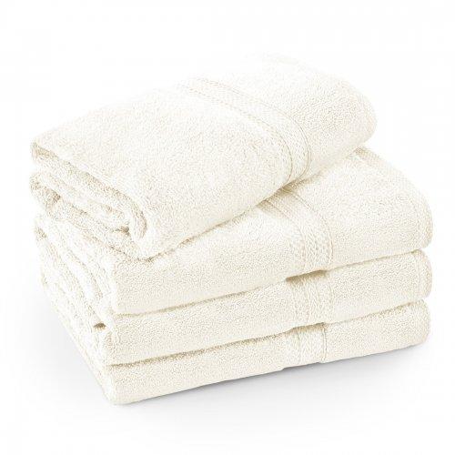 Komplet ręczników frotte KOMFORT 3 szt. 70x140 + 1 szt. 50x100 566-02 ecru