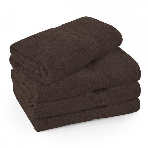 Komplet ręczników frotte KOMFORT 2 szt. 70x140 + 2 szt. 50x100 566-29 brązowy