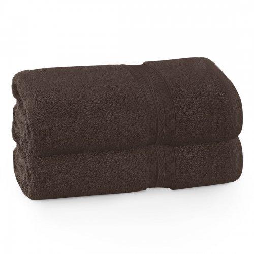 Komplet ręczników frotte KOMFORT 2 szt. 70x140 566-29 brązowy