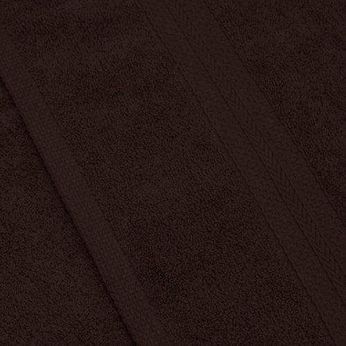 Komplet ręczników frotte KOMFORT 3 szt. 50x100 + 1 szt. 70x140 566-29 brązowe