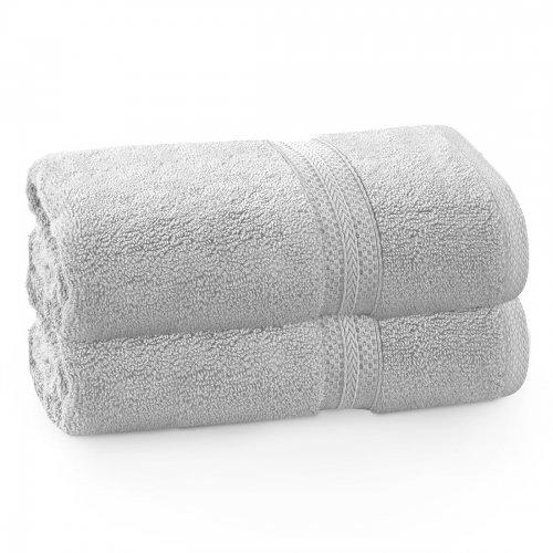 Komplet ręczników frotte KOMFORT 2 szt. 70x140 566-31 szary jasny