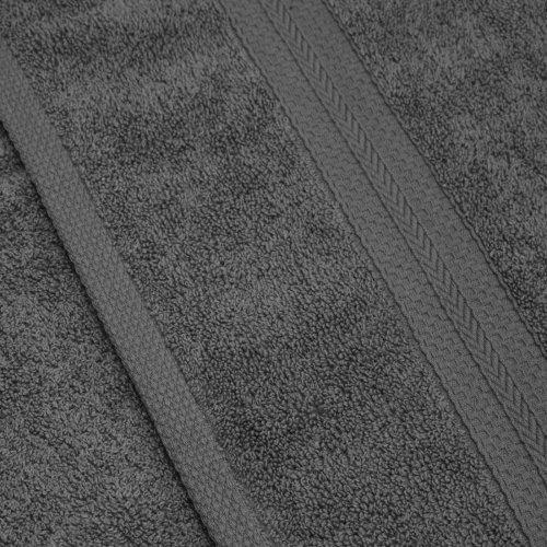 Komplet ręczników frotte KOMFORT 2 szt. 70x140 566-33 szary ciemny