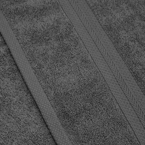 Komplet ręczników frotte KOMFORT 3 szt. 70x140 + 1 szt. 50x100 566-33 szary ciemny