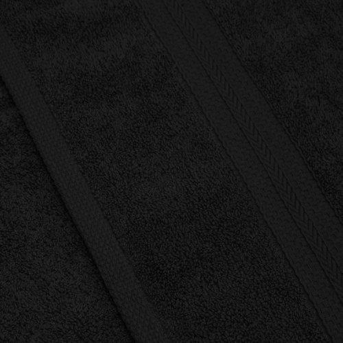 Komplet ręczników frotte KOMFORT 3 szt. 50x100 + 1 szt. 70x140 566-34 czarny