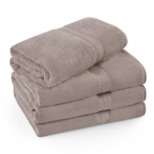 Komplet ręczników frotte KOMFORT 3 szt. 50x100 + 1 szt. 70x140 566-58 mocca