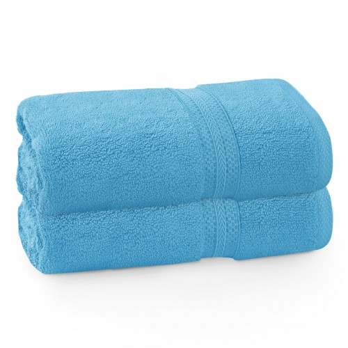 Komplet ręczników frotte KOMFORT 2 szt. 50x100 566-91 turkus jasny