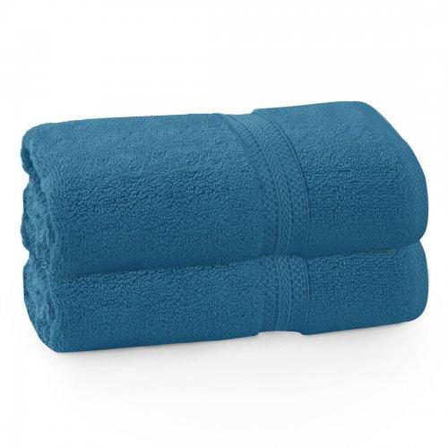 Komplet ręczników frotte KOMFORT 2 szt. 70x140 566-92 turkus ciemny