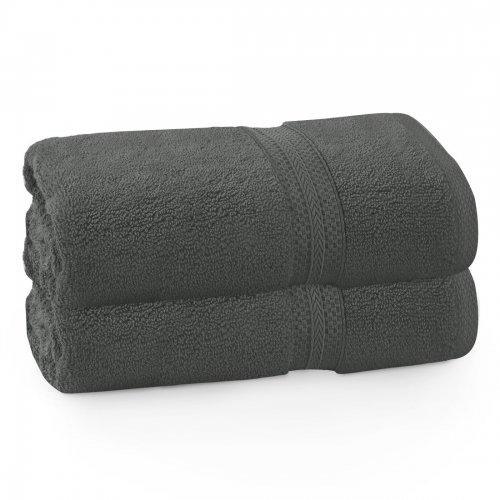 Komplet ręczników frotte KOMFORT 2 szt. 70x140 566-94 grafit